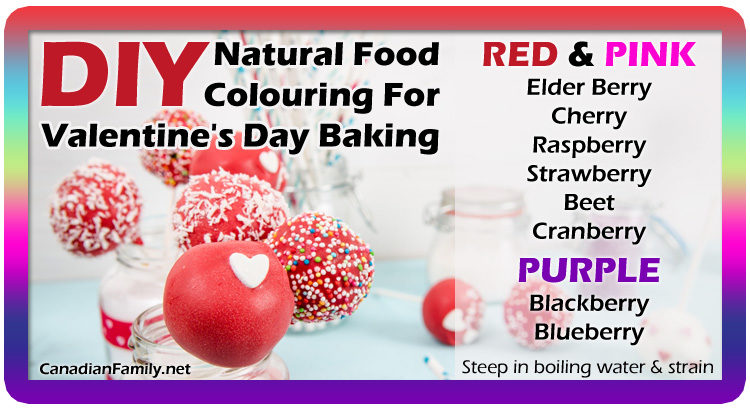 DIY Natural Food Colouring for Valentine's Day Baking