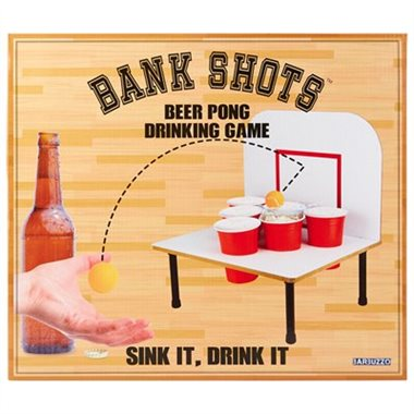 Bank Shots Beer Pong Adult Party Game